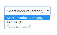 not hierarchical product category dropdown