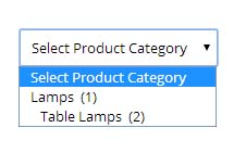 Product Category Dropdown