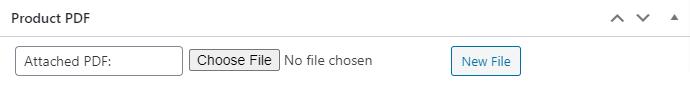Upload PDF WooCommerce Metabox