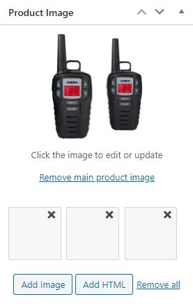 Advanced Gallery edit box on product edit screen