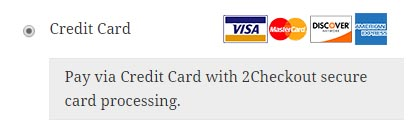 2Checkout Payment Option
