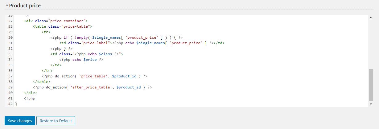 Template Editor Example screenshot