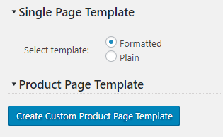 Custom Product Page Template Button