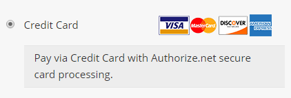 Authorize.Net in checkout