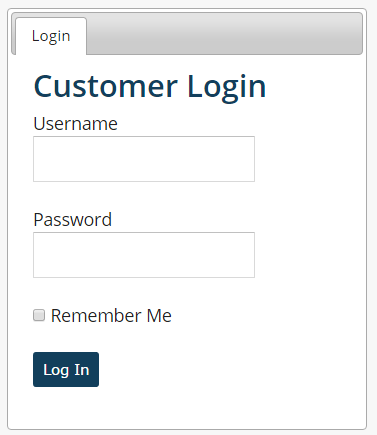 Customer Panel Login