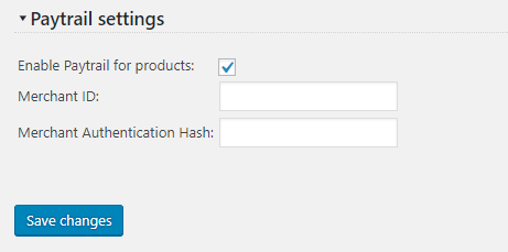 Paytrail Settings