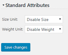 Disable Size Weight Settings