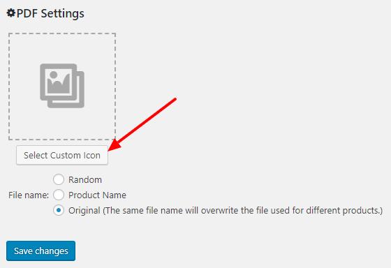 PDF custom icon