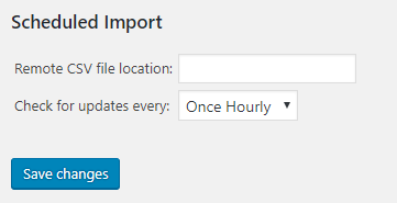 Scheduled Import