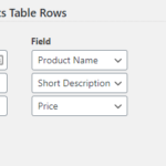 Alternative Products Table Customizer