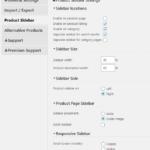 Product catalog sidebar settings