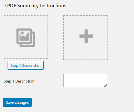 PDF Creation Step by Step guide settings