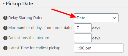Pickup Date Field