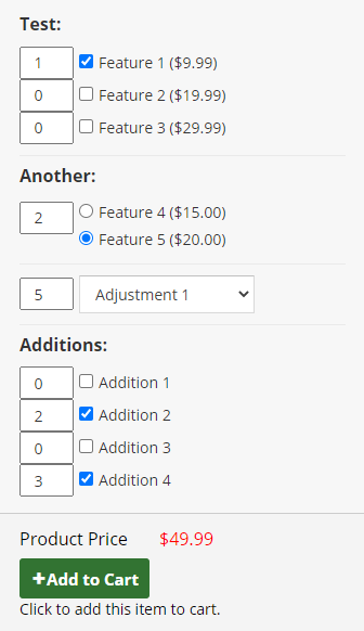Product Configurator Example front-end