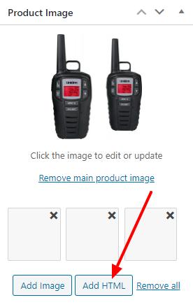 Slider Add HTML Button