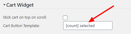 Quote Cart Button Label Settings