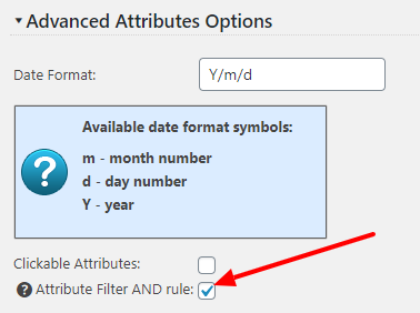Attriubte Filter AND logic