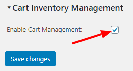 Inventory Automatic Management Settings Screen