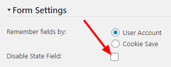 Disable state field in checkout