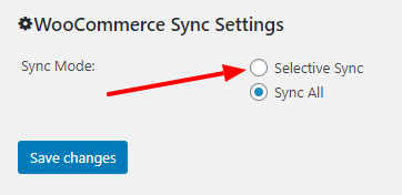 WooCommerce Sync Mode Selector