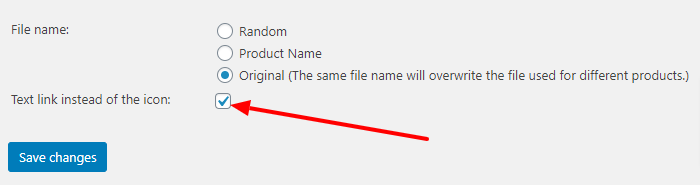 PDF text link checkbox in settings