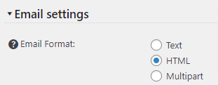 Email Format Setting