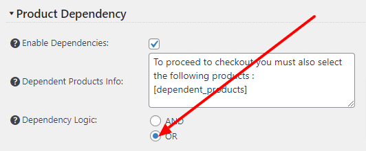 Product Dependency Logic