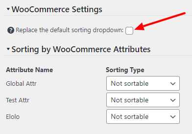 Replace the default WooCommerce sorting dropdown