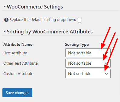 Sort products by WooCommerce attributes