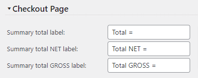 Quote Cart payment total labels customization